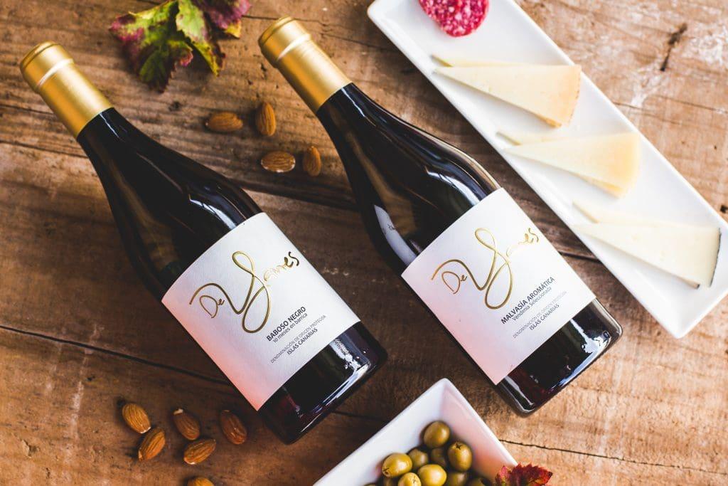Botellas de vino De Yanes