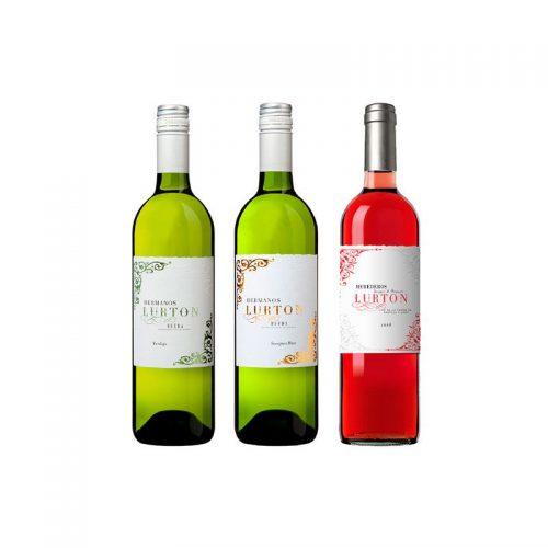 Vino Lurton blanco y rosado